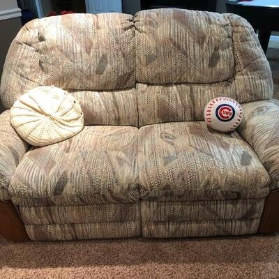 Love Seat with two Recliners