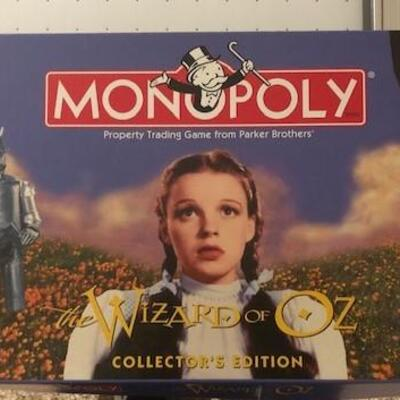 Wizard of Oz Monopoly Game Collectors Edition