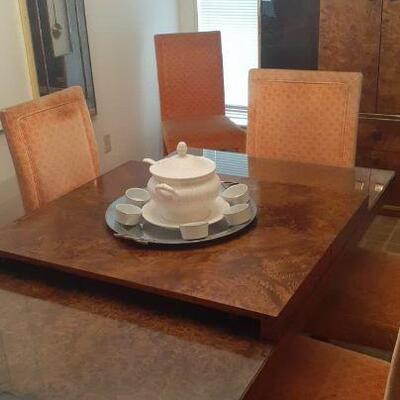 https://www.ebay.com/itm/114512808448HYH002 Jack Cartwright Thomasville Founders Burl Dinning Table Mid Century Modern Pickup Only...
