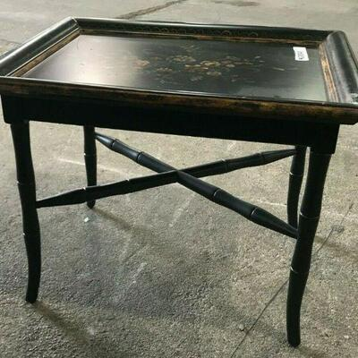 https://www.ebay.com/itm/114521046765KG046 BLACK AND GOLD SIDE COFFEE ACCENT TABLE WITH FLORAL DESIGN TOP Auction  Ebay