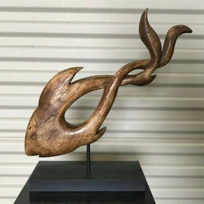 https://www.ebay.com/itm/124441305815KG107 WOODEN CARVED ABSTRACT FISH DECORATION ART Auction  Ebay