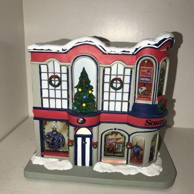Patriot's Christmas Village buildings light up