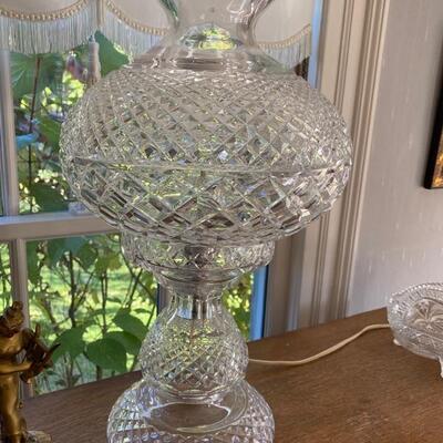 LARGE Waterford hurricane lamp