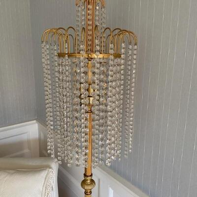 3 way lights make this waterfall crystal lamp brilliant ! ( Solid brass -not hollow tube)