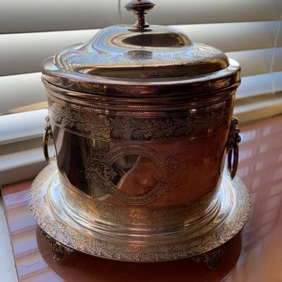 silver biscuit jar