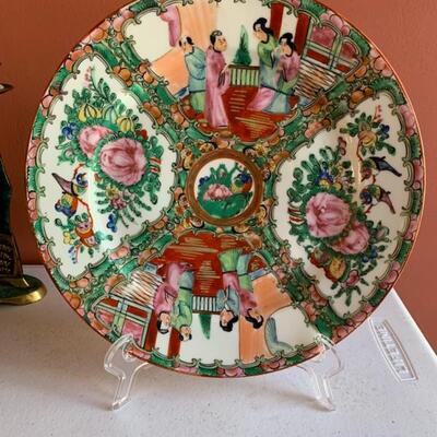 Chinese export plate, rose medallion