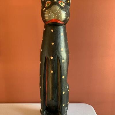 folk art, cat totem