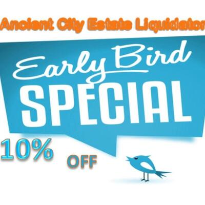Our early bird special is on Friday and Saturday only between 8am & 9am