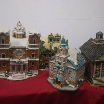 https://www.ebay.com/itm/114531785952	GN3079 LOT OF FOUR USED VINTAGE LEFTON CERAMIC BUILDINGS, COLONIAL VILLAGE		 Buy-IT-Now 	 $65.00