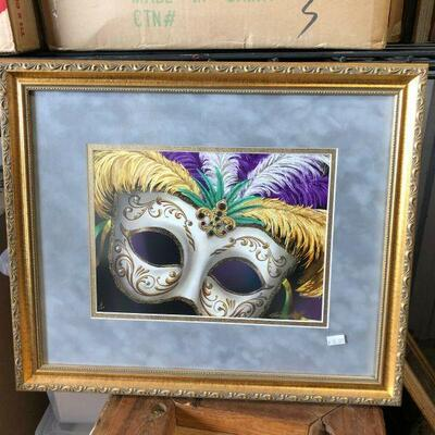 https://www.ebay.com/itm/114528608890	WL7061: The Diamond Masquerade Michael Hunt Mixed Media Framed Local Pickup		Buy-it-Now	 $30.00