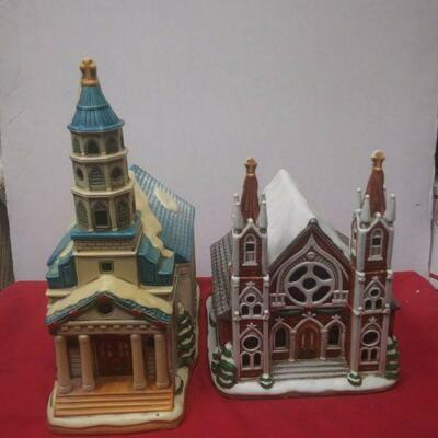 https://www.ebay.com/itm/114531776091	GN3094 LOT OF TWO USED VINTAGE CERAMIC LEFTON CHURCHES , COLONIAL VILLAGE		 Buy-IT-Now 	 $65.00