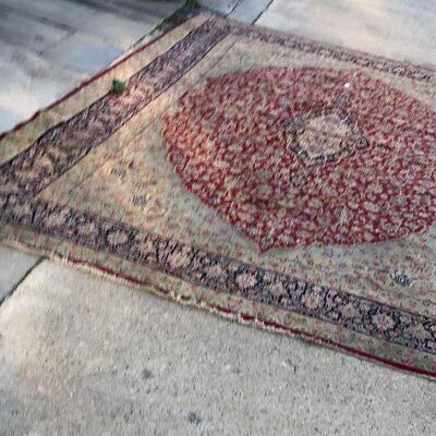 https://www.ebay.com/itm/124473987996	BA5090: Genuine Hand Woven Wool Oriental Area Rug Pickup Only 117