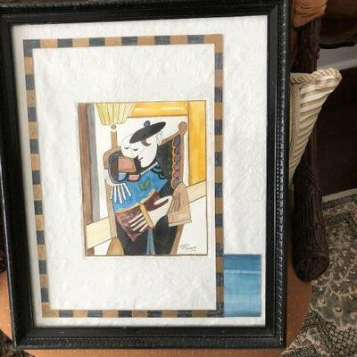 https://www.ebay.com/itm/124447851045	PR4511: ME Pearson Mixed Media Framed artwork Estate Sale pickup		Buy-it-Now	 $100.00