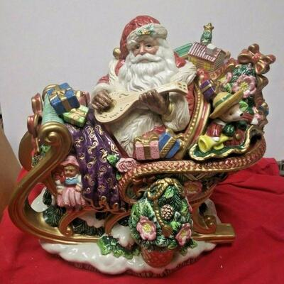 https://www.ebay.com/itm/114528608882	WL3113 VINTAGE FRITZ AND FLOYD CERAMIC SANTA CLAUS IN SLEIGH TUREEN & LADLE		Buy-it-Now	 $20.00