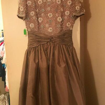 British Victoria Royal Ltd Vintage Party Dress, Size 8