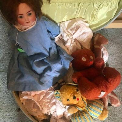 Antique Doll and clothes
