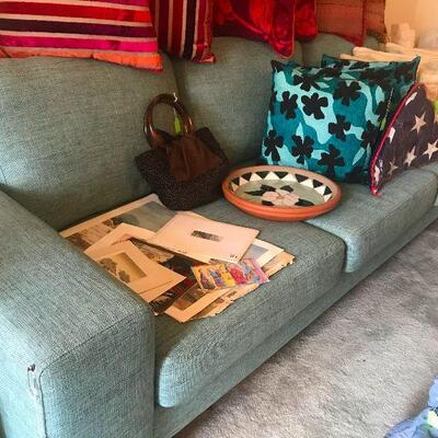 Aqua Turquoise Couch