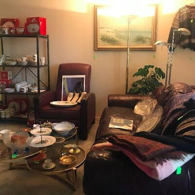 Leather Couch and other Treasures