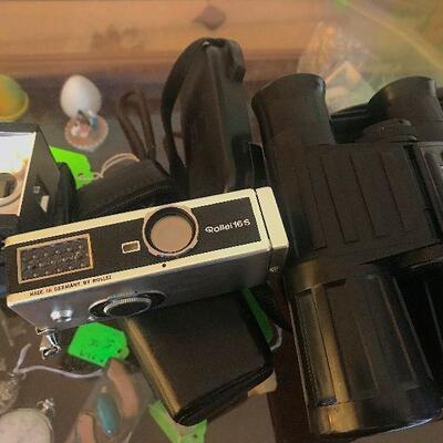 Vintage Binoculars and Camera