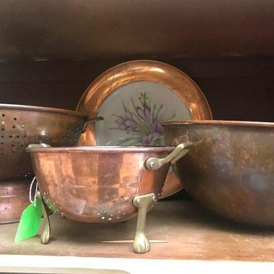 Assorted Copper Pots