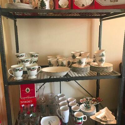Awesome collection of Spode and Nikko Christmas plates and platters