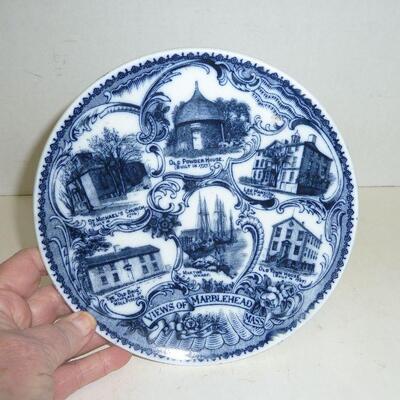 Marblehead Mass vintage souv plate
