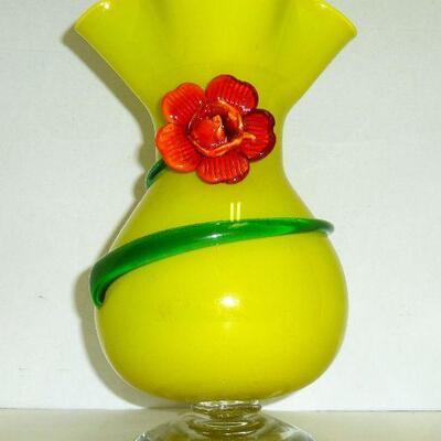 Lg. Murano art glass vase