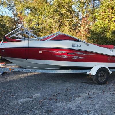2008 model 185SP Fiberglass Sea Ray boat $17,000