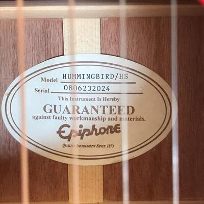 Epiphone acoustic guitar $190