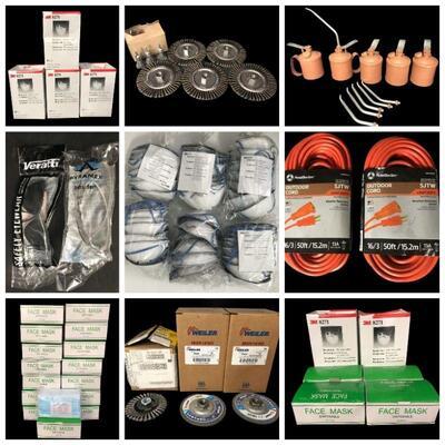 3M P95 Respirators, Face Masks, Ortec Multichannel Analyzer, Industrial Paint Markers, Various Sanding Wheels & Grinders, Siemens PFA100...