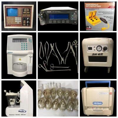 Vintage Jun-Air Dental Air Compressor, Hill Rom Therapy Surface, Key Card Door Locks, Digital Controlled Water Bath, Wound Care Vacuum...