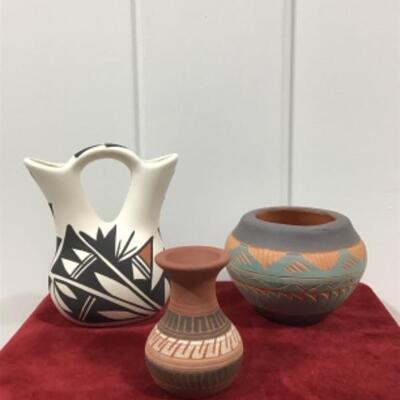 Variety of Navajo pottery