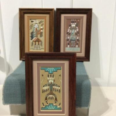Sand art framed trio