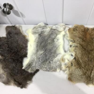 Small fur pelts