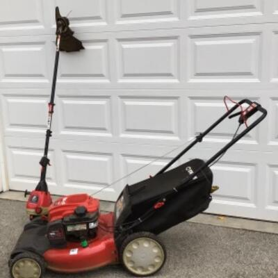 Toro lawnmower and weed eater