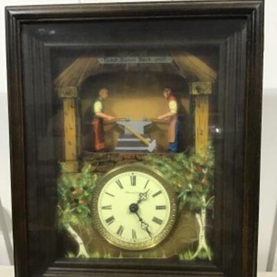 Blacksmith team cuckoo clock from Germany