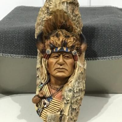 Brave Buffalo chief carving