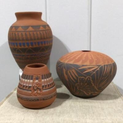 Navajo carved pottery collection