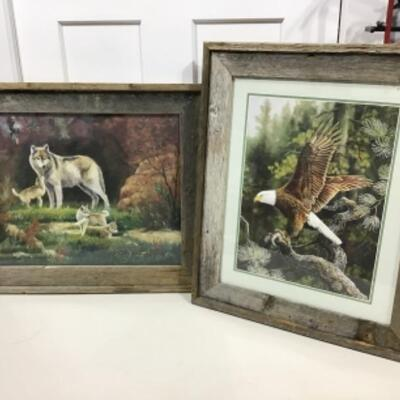 Eagle and wolf framed prints