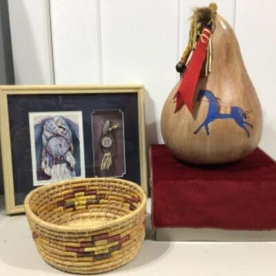 Painted gourd and decor