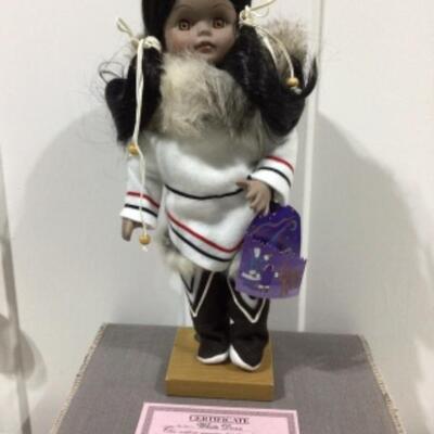 White dove collector doll