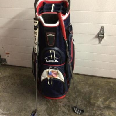 Golf bag and putters