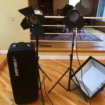 lighting by Cool Lights for film an photography (three high powered lighting with screens for color saturation)