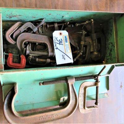 C-CLAMPS IN TOOLBOX LOT