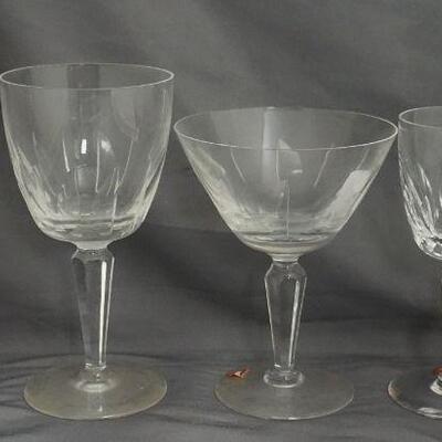 21 pc Orrefors Crystal. 3 Wine 5 3/8