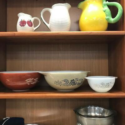Pyrex and and vintage items.