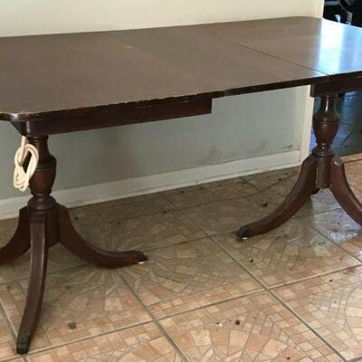https://www.ebay.com/itm/114561594271FL0009 Duncan Phyfe SOLID WOOD TABLE DESK WITH 1 LEAF EXTENSION Pickup Only300 OBO