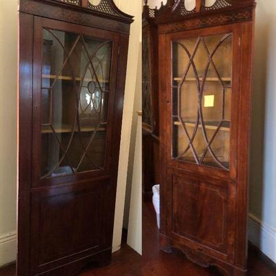 https://www.ebay.com/itm/114576282802WRG5002 Edwardian Pierced Capital Corner Cabinet Local Pickup $4,237.50