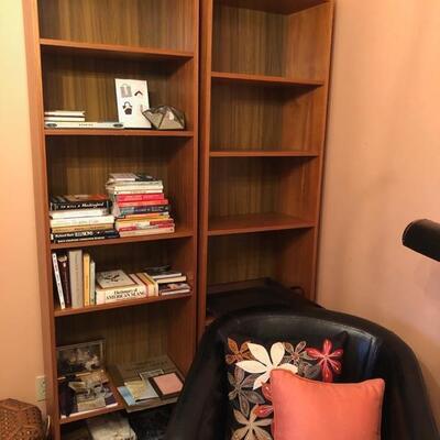Bookshelves, Barrel Chair
