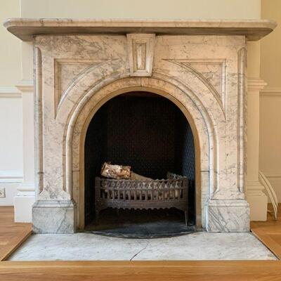Late 19th Century Marble Mantel Surround